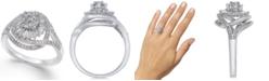Macy's Diamond Starburst Cluster Ring (1/2 ct. t.w.) in Sterling Silver
