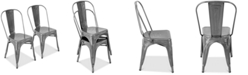 Lumisource Oregon Silver Dining Chair (Set of 2)