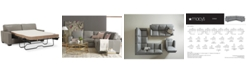 """Furniture Ennia 75"""" Leather Full Sleeper, Created for Macy's"""