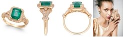 EFFY Collection Brasilica by EFFY® Emerald (2-1/5 ct. t.w.) and Diamond (1/3 ct. t.w.) Ring in 14k Gold, Created for Macy's