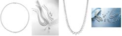 """Macy's Diamond Fancy 16-3/4"""" Collar Necklace (10 ct. t.w.) in 14k Gold"""