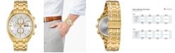 Bulova Men's Chronograph Classic Surveyor Gold-Tone Stainless Steel Bracelet Watch 42mm