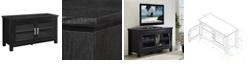 "Walker Edison 44"" Wood TV Media Stand Storage Console - Black"