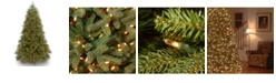 "National Tree Company National Tree 9' ""Feel Real"" Jersey Frasier Fir Medium Hinged Tree with 1500 Clear Lights"