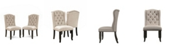 Furniture of America Langly Antique Black Side Chair (Set of 2)