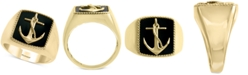 EFFY Collection EFFY® Men's Onyx (15 x 13mm) Anchor Ring in 14k Gold