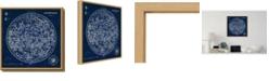 Amanti Art Celestial Blueprint by Susan Schlabach Canvas Framed Art