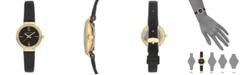 Anne Klein Women's Black Leather Strap Watch 28mm