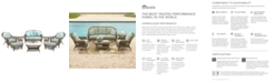 Furniture Sandy Cove Outdoor Wicker 8-Pc. Seating Set (1 Loveseat, 2 Club Chairs, 2 Ottomans, 1 Coffee Table and 2 End Tables), Created for Macy's