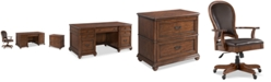 Furniture Clinton Hill Cherry Home Office, 3-Pc. Set (Executive Desk, Lateral File Cabinet & Leather Desk Chair), Created for Macy's
