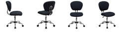 Flash Furniture Mid-Back Gray Mesh Swivel Task Chair With Chrome Base