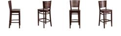 Flash Furniture Darby Series Slat Back Walnut Wood Restaurant Barstool