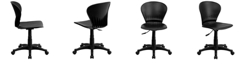 Flash Furniture Mid-Back Black Plastic Swivel Task Chair