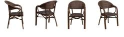 Flash Furniture Milano Series Cocoa Rattan Restaurant Patio Chair