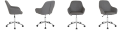 Flash Furniture Cortana Home And Office Mid-Back Chair In Gray Leather