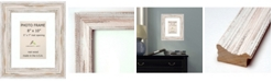 """Amanti Art Alexandria Whitewash 8"""" X 10"""" Matted 5"""" X 7"""" Opening Wall Picture Photo Frame"""