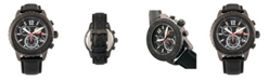 Morphic M51 Series, Gunmetal Case, Grey Leather Chronograph Band Watch w/Date