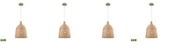 ELK Lighting Pleasant Fields 1 Light Pendant with Russet Beige Hardware and Natural Wicker Shade