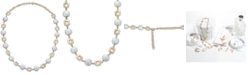 "Macy's Cultured Coin Freshwater Pearl (10mm) Collar Necklace in 14k Gold, 14-1/2"" + 2"" extender"