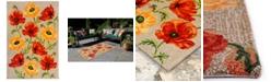"Liora Manne' Ravella 2272 Icelandic Poppies Ivory/Cream 3'6"" x 5'6"" Indoor/Outdoor Area Rug"