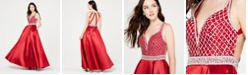 Say Yes to the Prom  Juniors' Jewel-Top Ballgown, Created for Macy's