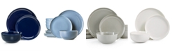 Hotel Collection Modern Porcelain Navy 12-Pc. Dinnerware set, Service for 4, Created for Macy's