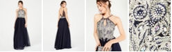 Sequin Hearts Juniors' Embellished Halter Gown