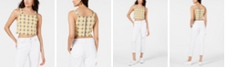House of Polly Checkered Crop Top