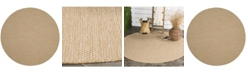 "Safavieh Courtyard Natural and Cream 6'7"" x 6'7"" Round Area Rug"