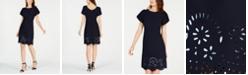 Jessica Howard Petite Tulip-Sleeve Lasercut Dress