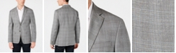 Calvin Klein Men's Slim-Fit Silver & Blue Plaid Sport Coat