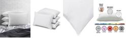 Ella Jayne Soft Plush Gel Fiber Filled Allergy Resistant Stomach Sleeper Pillow - Set of Four - King