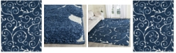 Safavieh Shag Dark Blue and Cream 8' x 10' Area Rug