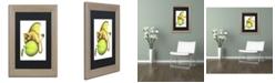 "Trademark Global Jennifer Nilsson Golden Delicious-Dragon Matted Framed Art - 16"" x 20"" x 0.5"""