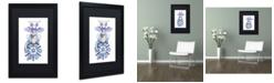 "Trademark Global Jennifer Nilsson Warm Wishes - Dragon Matted Framed Art - 16"" x 20"" x 0.5"""