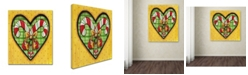 "Trademark Global Jennifer Nilsson Candy Cane Heart Canvas Art - 11"" x 14"" x 0.5"""