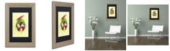 "Trademark Global Jennifer Nilsson Peppermint Twist Dragon Matted Framed Art - 11"" x 14"" x 0.5"""