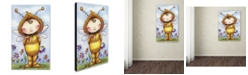 "Trademark Global Jennifer Nilsson Baby Bumble Canvas Art - 18"" x 24"" x 2"""