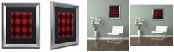 "Trademark Global Jennifer Nilsson Red Buffalo 2 Matted Framed Art - 11"" x 11"" x 0.5"""