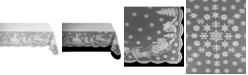 """Design Import Snow Village Lace Tablecloth, 52"""" x 90"""""""