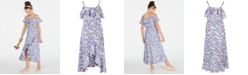 Epic Threads Big Girls Ruffle-Trim Butterfly-Print Maxi Dress, Created for Macy's
