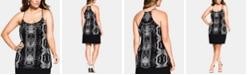 City Chic Trendy Plus Size Ankara Printed Top