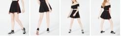 Waisted Varsity Stripe Cheerleader Skirt