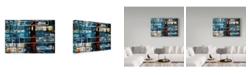 "Trademark Global David Spencer 'Damiens Push' Canvas Art - 24"" x 16"" x 2"""