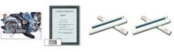 """Trademark Global Denim by Roderick Stevens Signed Giclee Art COA - 14"""" x 19"""" x 0.1"""""""