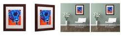 "Trademark Global DawgArt 'Lab Olive' Matted Framed Art - 11"" x 14"" x 0.5"""