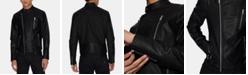 A X Armani Exchange Men's Faux-Leather Moto Jacket