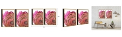 "Chic Home Decor Golden Petal 2 Piece Set Framed Canvas Wall Art Floral -20"" x 31"""