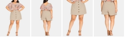 City Chic Trendy Plus Size Mini Skort