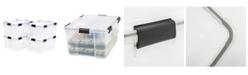 IRIS USA Iris 62 Quart Weather tight Storage Box, 4 Pack